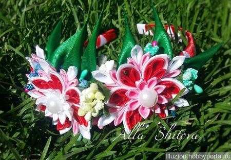 Ободок с цветами ручной работы на заказ