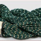 Anchor Pearl зеленый с золотой нитью (7683) нить для вышивания