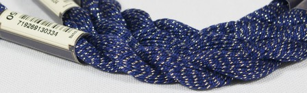 Anchor Pearl синий с золотой нитью (7150) нить для вышивания ручной работы на заказ