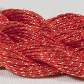 Anchor Pearl красный с золотой нитью (7046) нить для вышивания