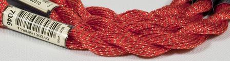 Anchor Pearl красный с золотой нитью (7046) нить для вышивания ручной работы на заказ