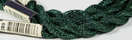 Anchor Pearl зеленый с серебристой нитью (683) нить для вышивания ручной работы на заказ