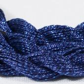 Anchor Pearl синий с серебристой нитью (150) нить для вышивания