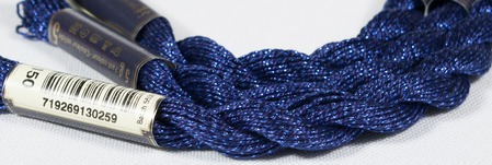 Anchor Pearl синий с серебристой нитью (150) нить для вышивания ручной работы на заказ