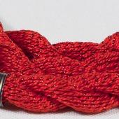 Anchor Pearl красный с серебристой нитью (46) нить для вышивания