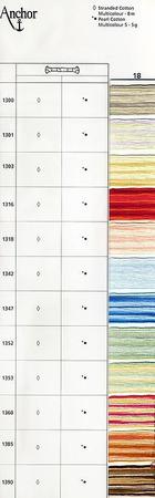 Anchor Pearl Cotton №5 Multicolor нити для вышивания ручной работы на заказ
