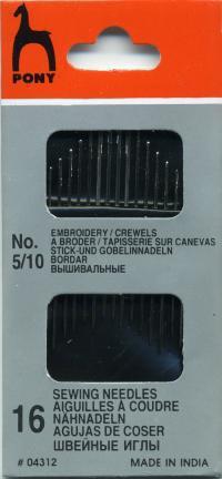 Иглы вышивальные №5/10 (PONY арт.04312) ручной работы на заказ
