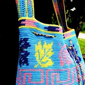 Пляжная сумка вязаная  крючком.  Авторская работа