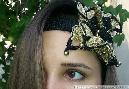 """Повязка на голову """"Монарх"""" ручной работы на заказ"""