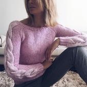 Вязаный свитер из альпаки ручной работы