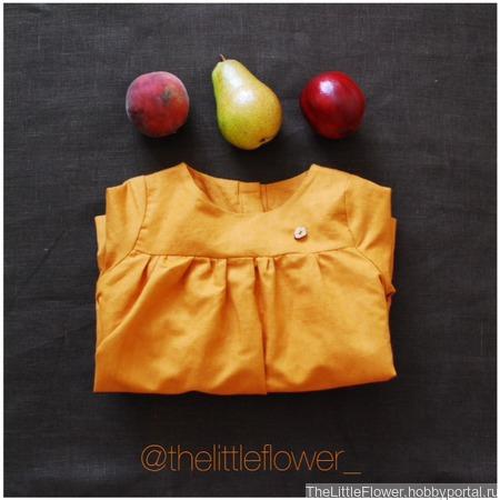 Платье для девочки в эко стиле ручной работы на заказ