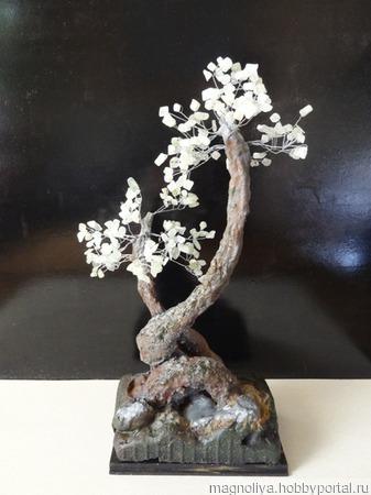 Дерево счастья с нефритом ручной работы на заказ