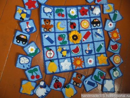 Развивающий коврик-лото ручной работы на заказ