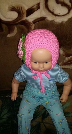 Шапочка для новорожденных ручной работы на заказ