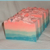 Розовый закат. Натуральное мыло