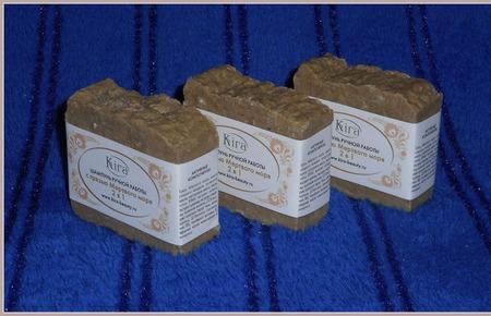 Твердый шампунь 2 в 1  с грязью Мёртвого моря ручной работы на заказ