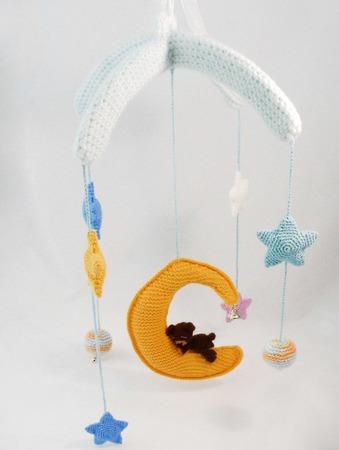 """Мобиль для детской """"Сны на луне"""" ручной работы на заказ"""