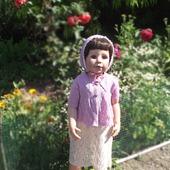 Платье кофточка капор в винтажном стиле