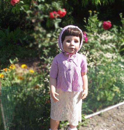 Платье кофточка капор в винтажном стиле ручной работы на заказ