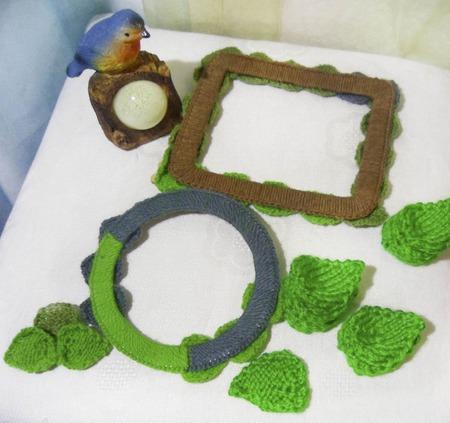 Рамки и вязаные элементы для скрапбукинга Листья для отделки ручной работы на заказ
