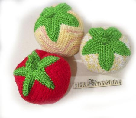 Мячики Фрукты-овощи ручной работы на заказ