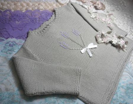 """Пуловер """"Букет лаванды"""" ручной работы на заказ"""
