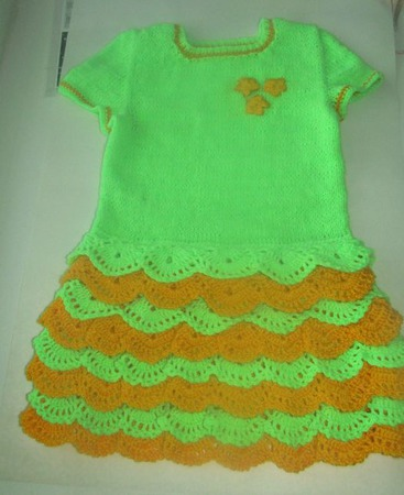 Платье для девчушки 5- 6 лет ручной работы на заказ
