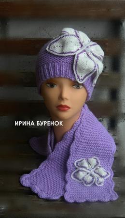 Шапочка + шарф ручной работы на заказ