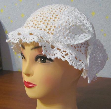 Детская шапочка с бантом ручной работы на заказ