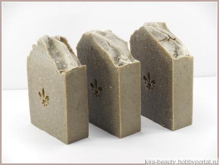 Натуральное мыло с грязью Мёртвого моря и черной глиной ручной работы на заказ