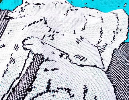 """Детский вязаный плед """"Северные мишки"""" ручной работы на заказ"""