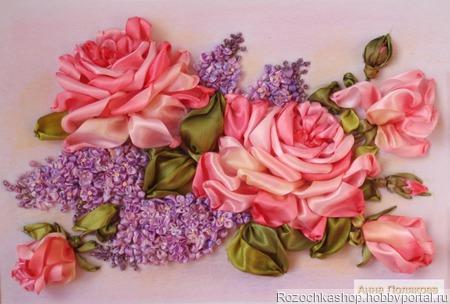 Розы и сирень ручной работы на заказ