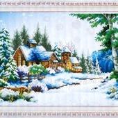 """Набор для создания картины """"Зимний домик"""""""