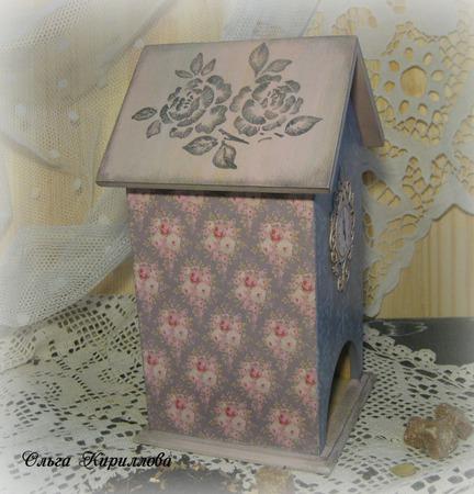 """Чайный домик """"Серебряная роза"""" ручной работы на заказ"""