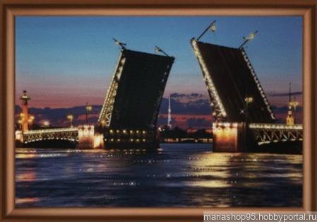 """Набор для изготовления картины """"Троицкий мост"""" ручной работы на заказ"""