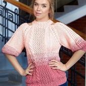 Вязаный свитер оверсайз из хлопка ручной работы