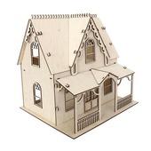 Деревянная заготовка домик кукольный