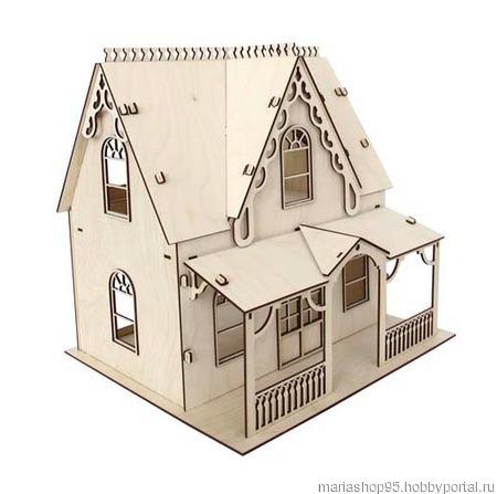 Деревянная заготовка домик кукольный ручной работы на заказ