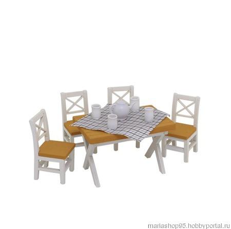"""Набор для изготовления миниатюры """"Обеденный стол"""" ручной работы на заказ"""