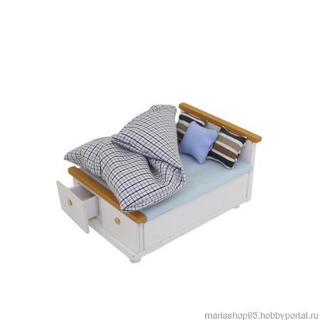 """Набор для изготовления миниатюры """"Спальная кровать"""" ручной работы на заказ"""