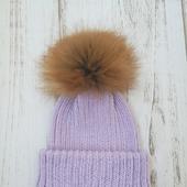 Детская вязаная шапка с двойным отворотом