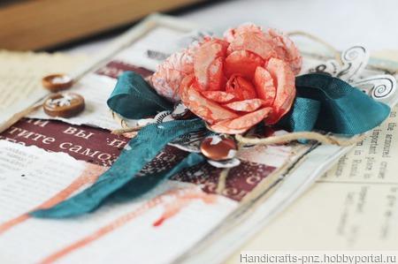 Цветочная открытка ручной работы на заказ