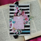 "Открытка ""Keep calm and love on"""