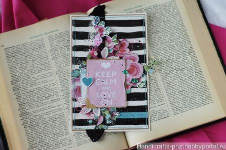 """Открытка """"Keep calm and love on"""" ручной работы на заказ"""