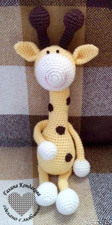 Веселый жирафчик ручной работы на заказ