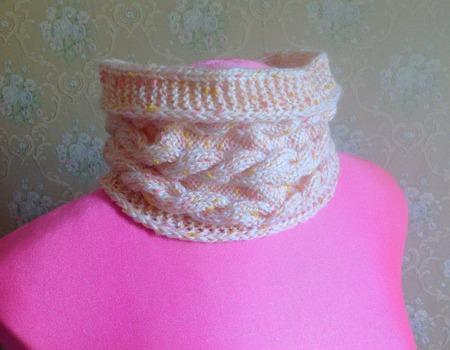 Снуд-шарф для юной красавицы ручной работы на заказ