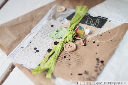 Открытка в эко-стиле ручной работы на заказ