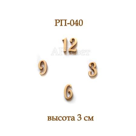 РП-040. Цифры для часов. Заготовки для декупажа ручной работы на заказ