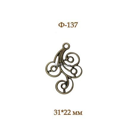 137 Филигрань металлическая. Декоративные элементы ручной работы на заказ