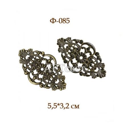 Декоративные элементы Ф-085 Филигрань (античная бронза) ручной работы на заказ